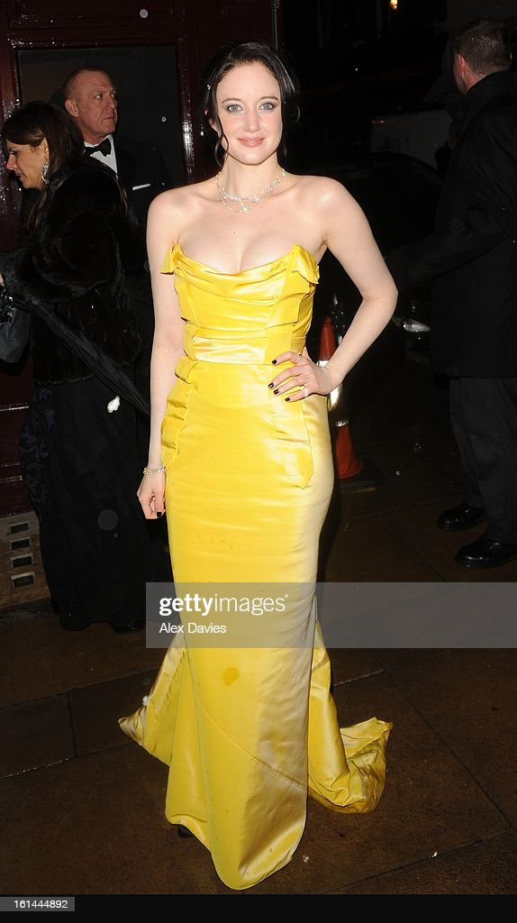 Andrea Riseborough on February 10, 2013 in London, England.