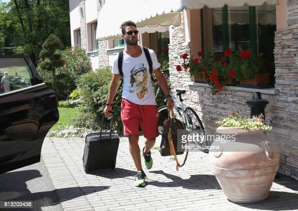Andrea Rispoli of Palermo arrives at the hotel on July 12 2017 in Gradisca d'Isonzo Italy