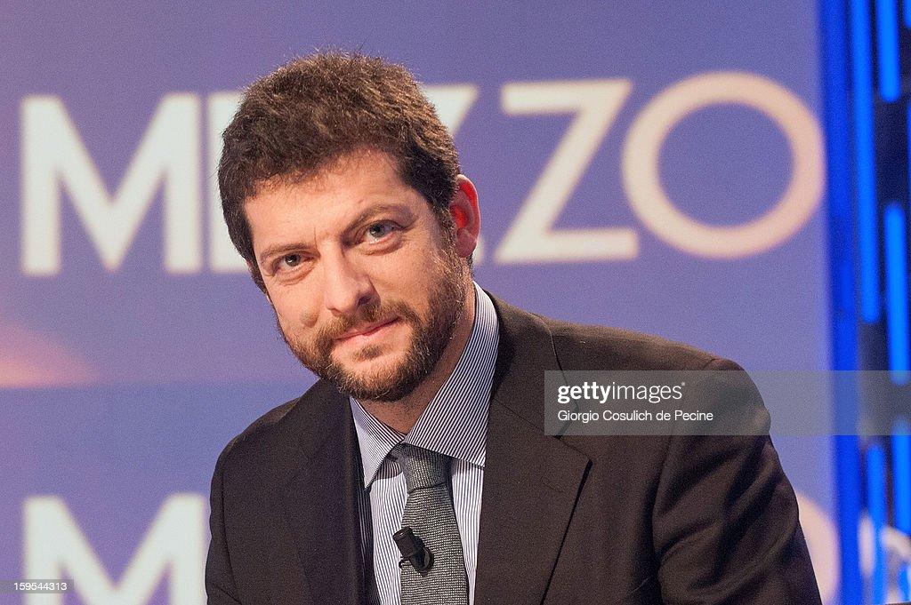 Andrea Romano attends 'Otto e Mezzo' Italian TV Show on January 15, 2013 in Rome, Italy.