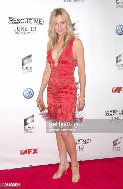 Andrea Roth during 'Rescue Me' Premiere Arrivals at AMC Theatre Times Square in New York City New York United States