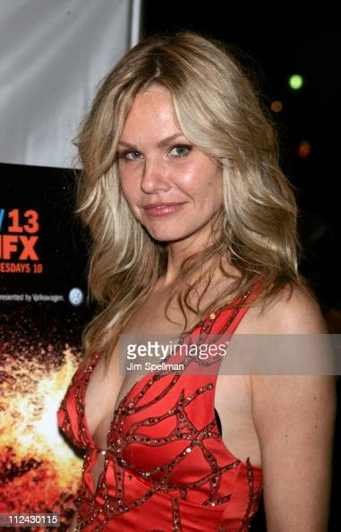 Andrea Roth during 'Rescue Me' Season Three DVD Laucnh Party at Bryant Park in New York City New York United States