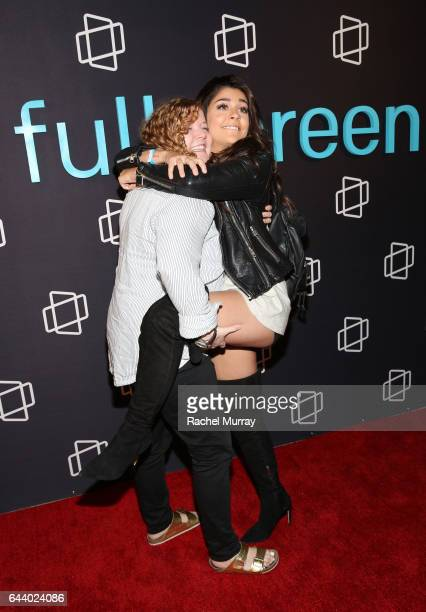 Andrea Russett of 'Apologies in Advance with Andrea Russett' and Rachel Scanlon attend the FullScreen Clubhouse Party on February 22 2017 in Los...