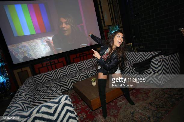 Andrea Russett of 'Apologies in Advance with Andrea Russett' attends the FullScreen Clubhouse Party on February 22 2017 in Los Angeles California
