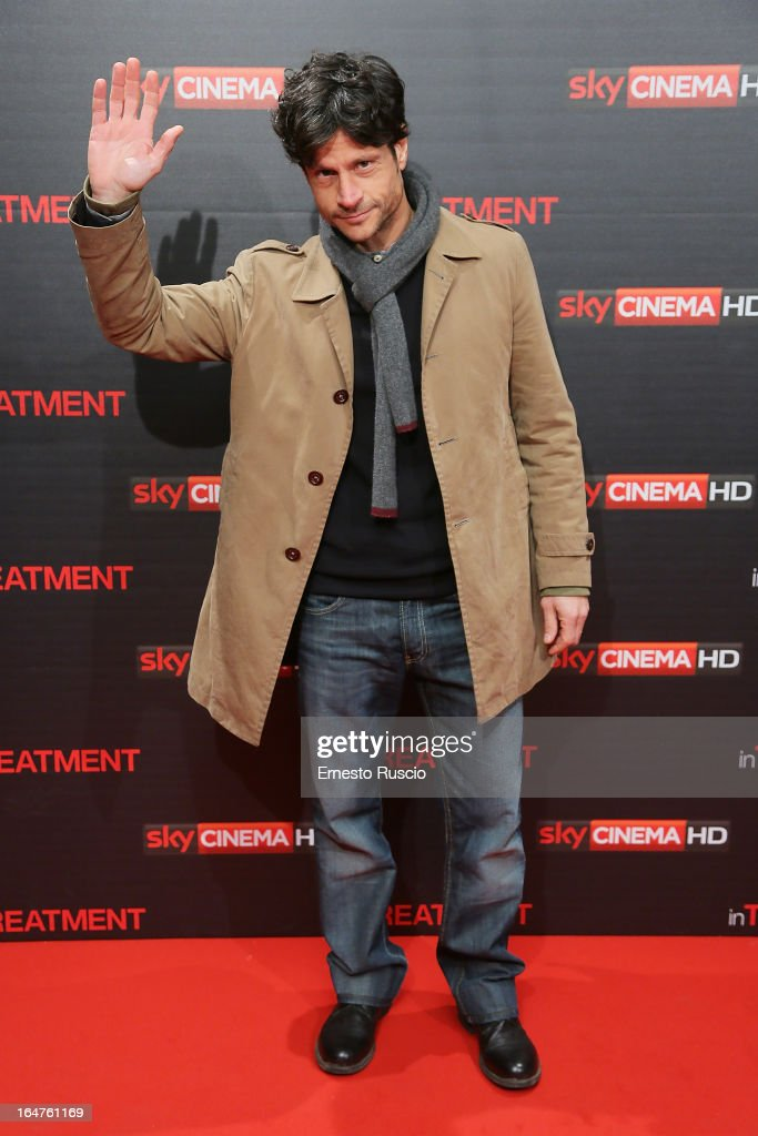 Andrea Sartoretti attends the 'In Treatment' premiere at Teatro Capranica on March 27, 2013 in Rome, Italy.