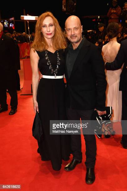 Andrea Sawatzki and Christian Berkel arrive for the closing ceremony of the 67th Berlinale International Film Festival Berlin at Berlinale Palace on...