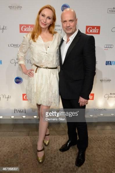 Andrea Sawatzki and Christian Berkel attend the Berlin Opening Night Of Gala Ufa Fiction during the 64th Berlinale International Film Festival at...