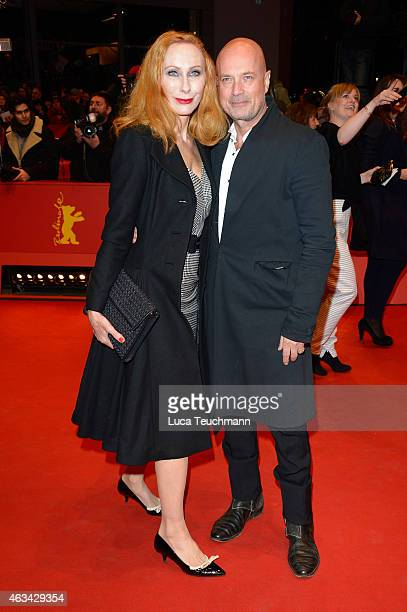 Andrea Sawatzki and Christian Berkel attend the Closing Ceremony of the 65th Berlinale International Film Festival at Berlinale Palace on February 14...