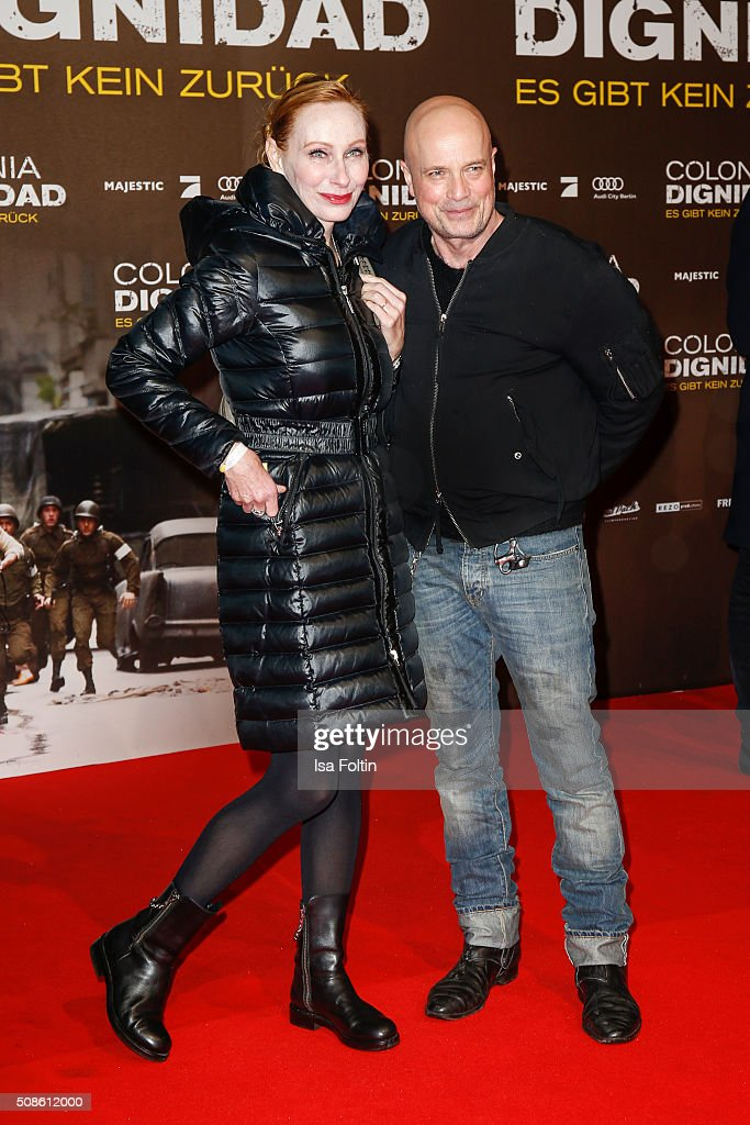 Andrea Sawatzki and Christian Berkel attend the 'Colonia Dignidad - Es gibt kein zurueck' Berlin Premiere on February 05, 2016 in Berlin, Germany.