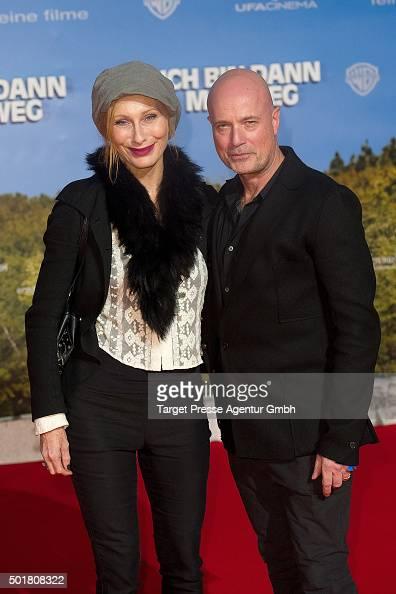 Andrea Sawatzki and Christian Berkel attend the 'Ich bin dann mal weg' premiere at CineStar on December 17 2015 in Berlin Germany