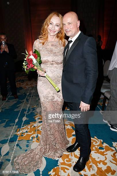 Andrea Sawatzki and Christian Berkel attend the Victress Awards Gala on April 4 2016 in Berlin Germany