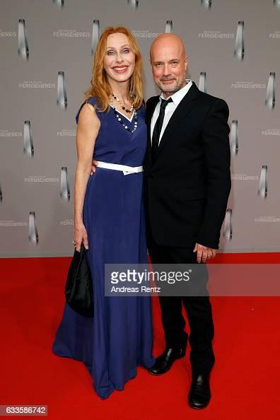 Andrea Sawatzki and her husband Christian Berkel attend the German Television Award at Rheinterrasse on February 2 2017 in Duesseldorf Germany