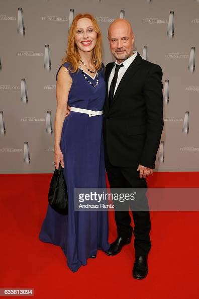Andrea Sawatzki and husband Christian Berkel arrive for the German Television Award at Rheinterrasse on February 2 2017 in Duesseldorf Germany