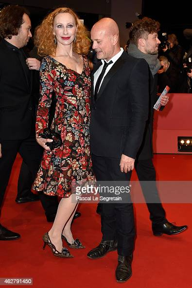 Andrea Sawatzki and husband Christian Berkel attend the 'Nobody Wants the Night' Opening Night premiere during the 65th Berlinale International Film...