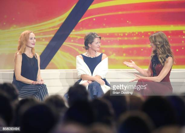 Andrea Sawatzki and Marelle Hoeppner attend the Tribute To Bambi show at Station on October 5 2017 in Berlin Germany