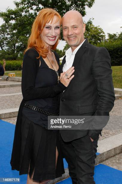 Andrea Sawatzki and partner Christian Berkel attend the producer party 2012 of the German producers alliance on June 14 2012 in Berlin Germany