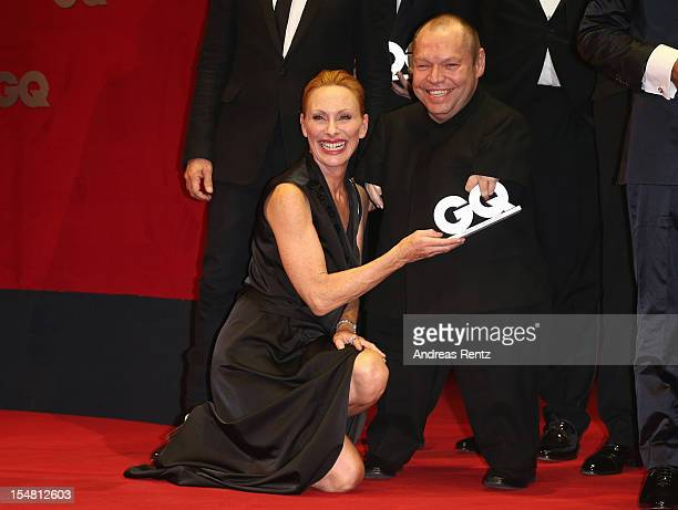 Andrea Sawatzki and Thomas Quasthoff attend the GQ Men of the Year Award at Komische Oper on October 26 2012 in Berlin Germany