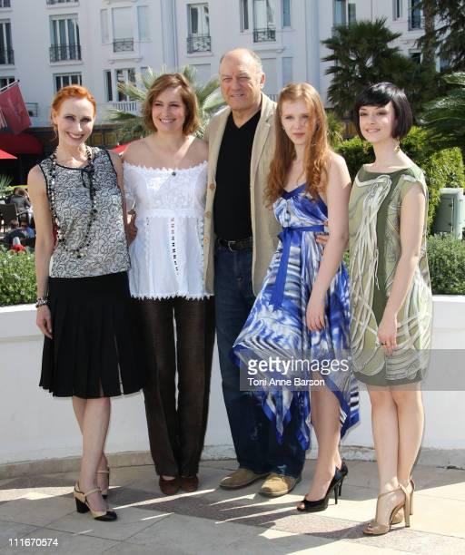 Andrea Sawatzki Assumpta Serna John Doman Isolda Dychauk and Marta Gastini attend the 'Borgia' photocall during MIPTV 2011 at Hotel Majestic on April...