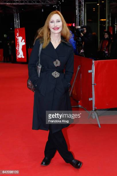 Andrea Sawatzki attends the 'In Times of Fading Light' premiere during the 67th Berlinale International Film Festival Berlin at Zoo Palast on...