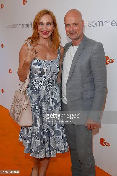 Andrea Sawatzki Christian Berkel attend the ZDF summer reception on July 6 2015 in Berlin Germany
