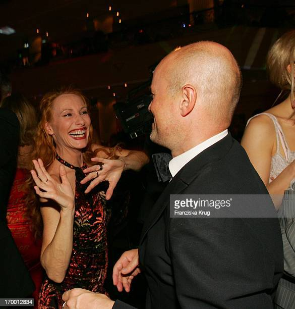 Andrea Sawatzki Dancing With friend Christian Berkel at the German Film Ball in the Hotel Bayerischer Hof in Munich