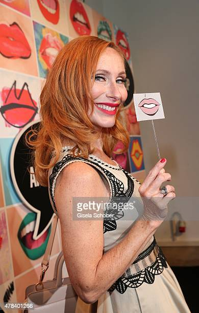 Andrea Sawatzki during the presentation of 'Art of the Lip' by MAC Cosmetics at Haus der Kunst on June 24 2015 in Munich Germany