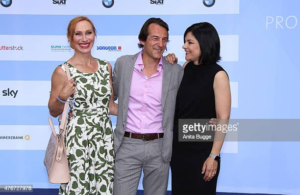 Andrea Sawatzki Hans Werner Meyer and Jasmin Tabatabai attend the producer party 2015 of the Alliance German Producer Cinema And Television on June...