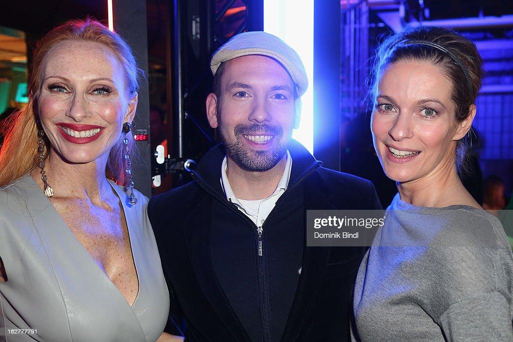 Andrea Sawatzki, Kay Rainer and Lisa Martinek attend the BRIGITTE fashion event 2013 on February 26, 2013 in Munich, Germany.