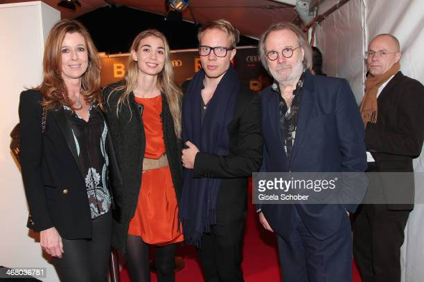 Andrea Schoeller and daughter Mimi with boyfriend Ludvig Anderson and his father Benny Anderson attend the Bild 'Place to B' Party during the 64th...