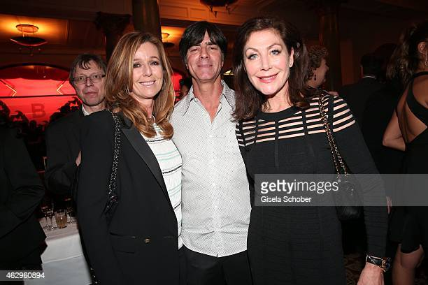 Andrea Schoeller Joachim Loew and Alexandra von Rehlingen attend the Bild 'Place to B' Party at Borchardt Restaurant on February 7 2015 in Berlin...