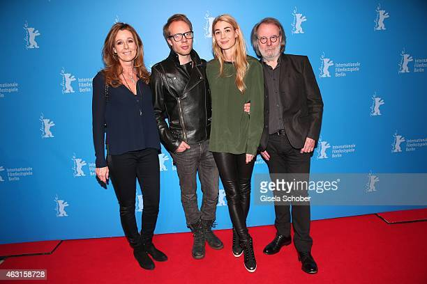 Andrea Schoeller Ludvig Andersson and his girlfriend Mimi Schoeller Benny Andersson Founder of ABBA during 'The Circle' Premiere during the 65th...
