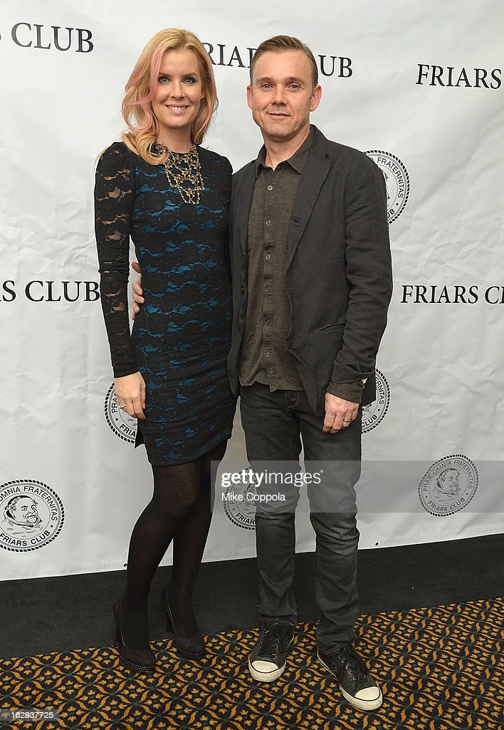 Andrea Schroder (L) and husband Ricky Schroder attend The Friars Club: 'So You Think You Can Roast?' Celebrating Ricky Schroder at New York Friars Club on March 1, 2013 in New York City.