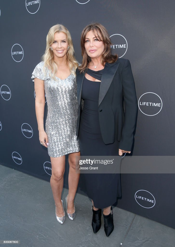 Andrea Schroder (L) and Kelly LeBrock attend Lifetime's New Docuseries 'Growing Up Supermodel's' Exclusive LIVE Viewing Party Hosted By Andrea Schroder on August 16, 2017 in Studio City, California.