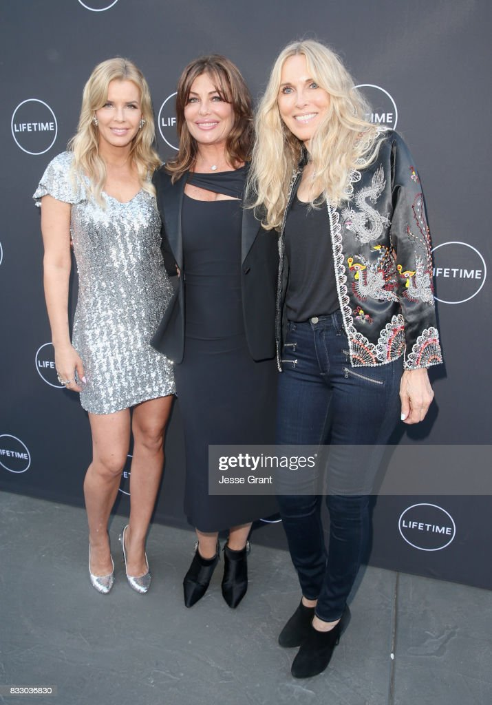 Andrea Schroder, Kelly LeBrock and Alana Stewart attend Lifetime's New Docuseries 'Growing Up Supermodel's' Exclusive LIVE Viewing Party Hosted By Andrea Schroder on August 16, 2017 in Studio City, California.