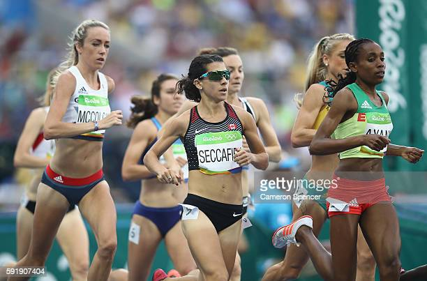 Andrea Seccafien of Canada competes during the Women's 5000m Round 1 on Day 11 of the Rio 2016 Olympic Games at the Olympic Stadium on August 16 2016...