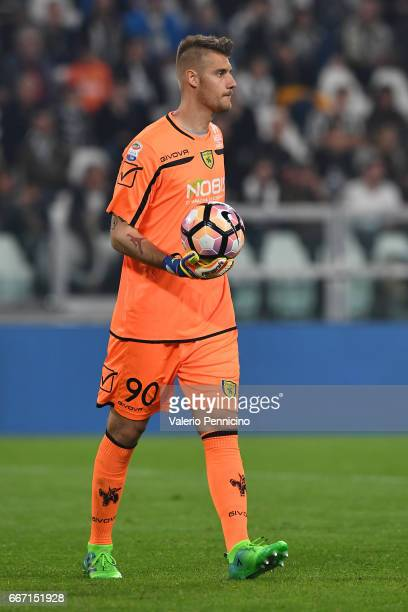 Andrea Seculin of AC ChievoVerona looks on during the Serie A match between Juventus FC and AC ChievoVerona at Juventus Stadium on April 8 2017 in...