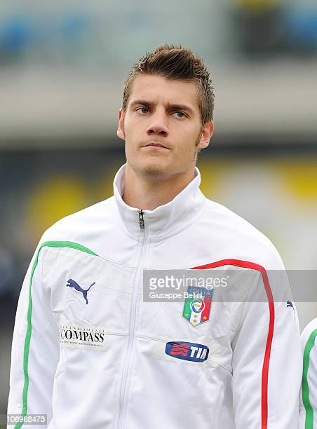 Andrea Seculin of Italy before the U21 international friendly match between Italy and Turkey at Stadio Bruno Recchioni on November 17 2010 in Fermo...