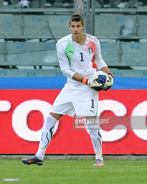 Andrea Seculin of Italy in action during the U21 international friendly match between Italy and Turkey at Stadio Bruno Recchioni on November 17 2010...