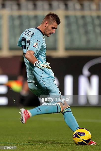Andrea Seculin of SS Juve Stabia in action during the TIM Cup match between AC Fiorentina and SS Juve Stabia at Stadio Artemio Franchi on November 28...