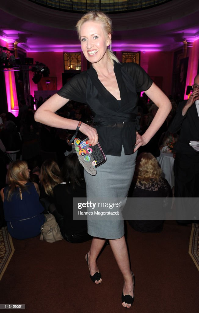 Andrea Sokol attends the ARTDECO Art Couture Collection at Bayerischer Hof on April 26, 2012 in Munich, Germany.