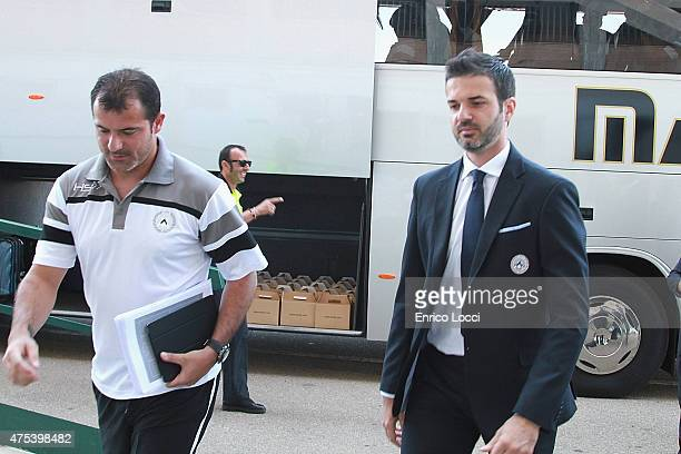 Andrea Stramaccioni coach of Udinese looks on ahead of the Serie A match between Cagliari Calcio and Udinese Calcio at Stadio Sant'Elia on May 31...