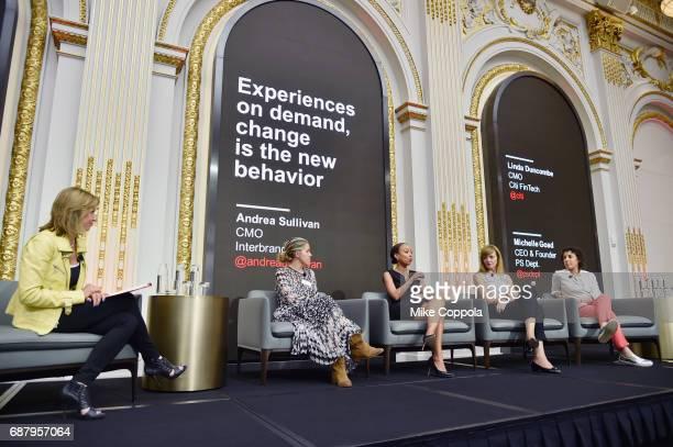 Andrea Sullivan Michelle Goad Lauren WestbrookMcIntosh Linda Duncombe and Rachel Tipograph appear onstage during Interbrand Breakthrough Brands 2017...