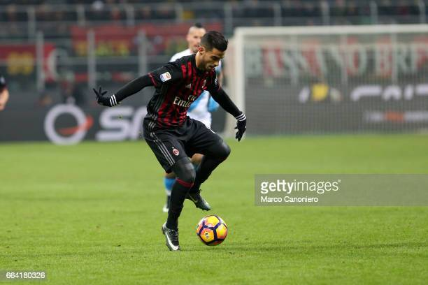 Andrea Suso of Ac Milan in action during the Serie A match between AC Milan and SSC Napoli SSC Napoli wins 21 over AC Milan