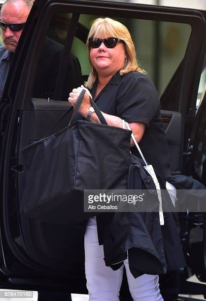 Andrea Swift is seen in Tribeca on August 4 2017 in New York City