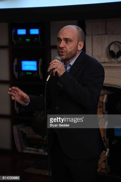 Andrea Tessera speaks at the CANALI and PRYMA celebration of the US launch of the CANALI online boutique on October 12 2016 in New York City