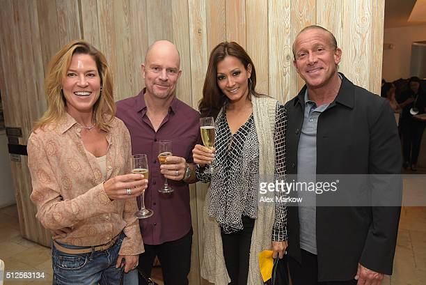 Andrea Thilen Nick Thilen Terry Zimmerman and Jordan Zimmerman attend a Dinner Hosted By Marc Vetri And Giovanni Rocchio Part of the Taste Fort...