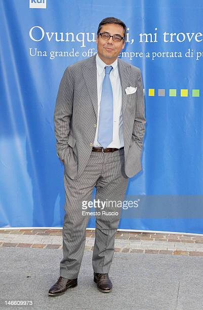 Andrea Vianello attends the Palinsesti Rai photocall at Cavalieri Hilton Hotel on June 20 2012 in Rome Italy