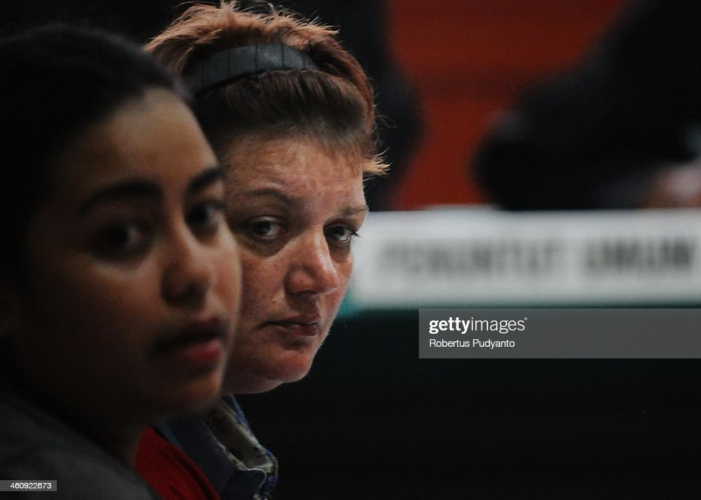 Andrea Waldeck of Britain (43) listens in court at a hearing for drug trafficking charges on January 6, 2014 in Surabaya, Indonesia. Prosecutors are seeking a 16-year prison term and a fine of around £100,000 for Andrea Waldeck, who has admitted trafficking crystal meth into the country from China and previously faced the possibility of a death sentence. The former PCSO with Gloucestershire Police had pleaded guilty to the offence after being arrested in April in possession of 3lb of methamphetamine crystals hidden in her underwear.