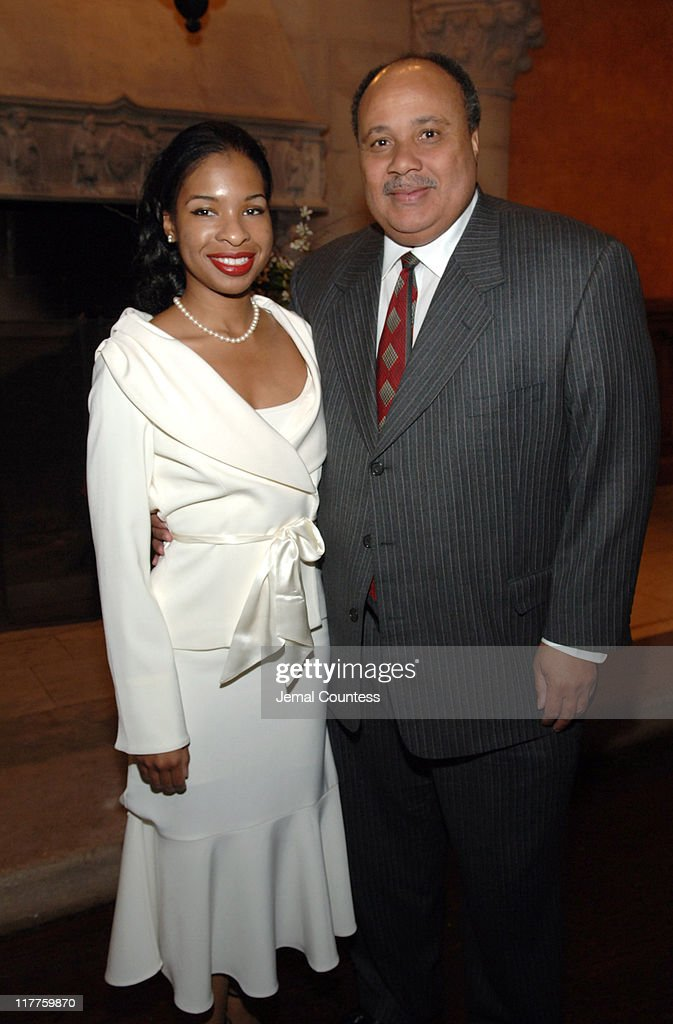 Andrea Waters and Martin Luther King III during The 'Realizing the Dream' Martin Luther King Jr Tribute Reception at Riverside Church in New York...