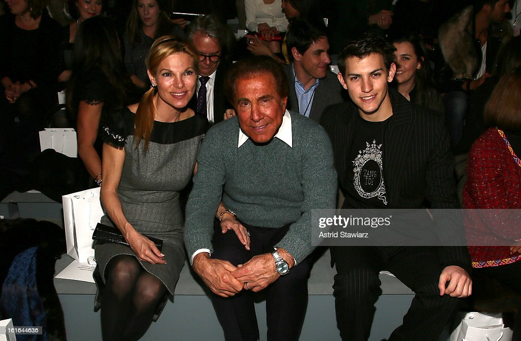 Andrea Wynn, <a gi-track='captionPersonalityLinkClicked' href=/galleries/search?phrase=Steve+Wynn&family=editorial&specificpeople=696427 ng-click='$event.stopPropagation()'>Steve Wynn</a> and Nick Hissom attend the Zang Toi Fall 2013 fashion show during Mercedes-Benz Fashion Week at The Stage at Lincoln Center on February 13, 2013 in New York City.