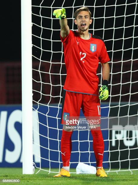 Andrea Zaccagno of Italy directs his team during the FIFA U20 World Cup Korea Republic 2017 group D match between Japan and Italy at Cheonan Baekseok...